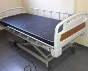Cama hospitalaria eléctrica de tres movimientos.