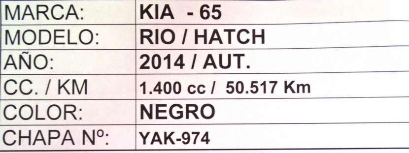 Kia Rio hatch 2014 negro - 8