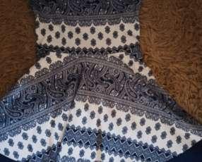 Vestido azul con blanco para quince