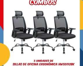 Combo de sillas de oficina