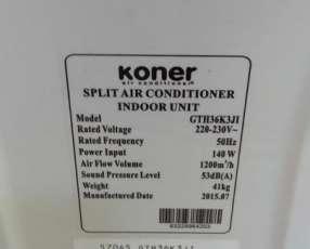 Aire acondicionado de 36.000 btu Koner