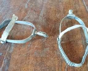 Espuelas de plata y oro antiguas
