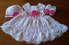 Vestiditos de crochet para tu bebé - 0