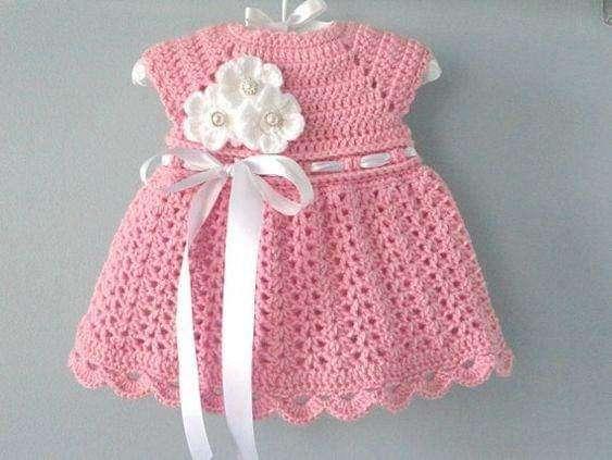 Vestiditos de crochet para tu bebé - 1