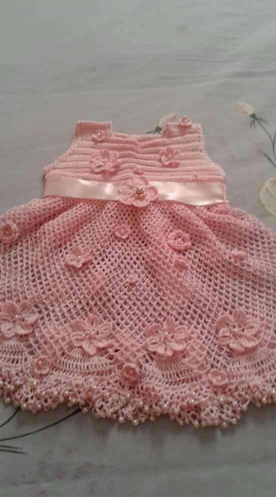 Vestiditos de crochet para tu bebé - 2