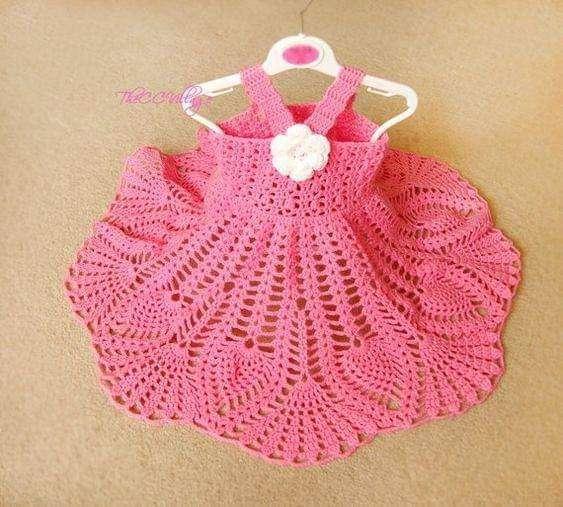 Vestiditos de crochet para tu bebé - 3