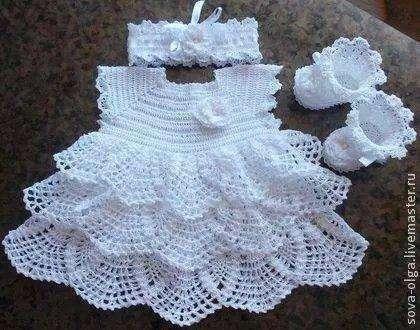 Vestiditos de crochet para tu bebé - 7