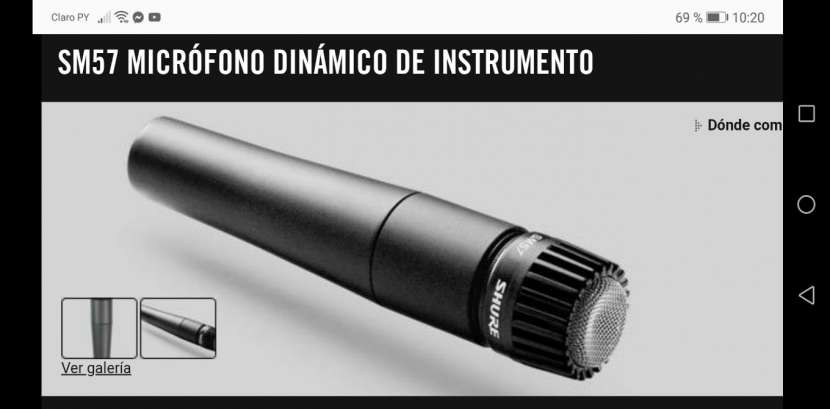 Microfono SM57 dinámico para instrumento - 3