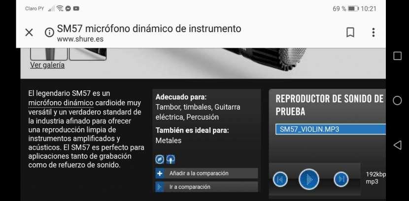 Microfono SM57 dinámico para instrumento - 4