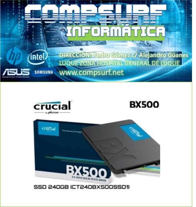 SSD Crucial BX500 120GB 3D NAND SATA de 2,5 pulgadas