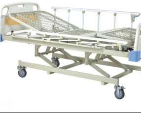 Cama hospitalaria de tres movimientos manual