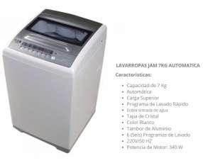 Lavarropas JAM 7 kg automático carga superior JA/K700