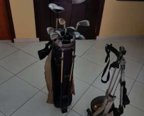 Bolsa de Golf, carrito de Bolsa de Golf y 30 pelotitas