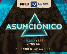 Entrada Asunciónico Campo VIP 2 días