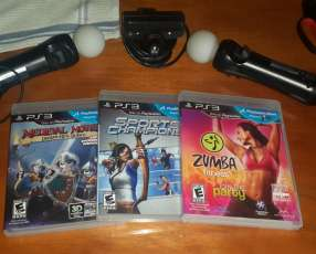 Kit Playstation Move con 3 juegos