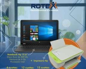 Notebook hp con impresora