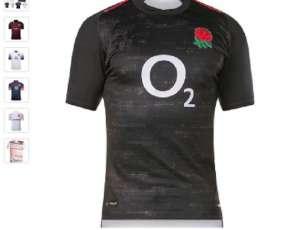 Remera Rugby Inglaterra Negro