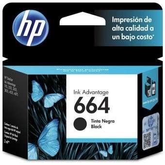 Cartucho de Tinta HP 664 Negro - 0