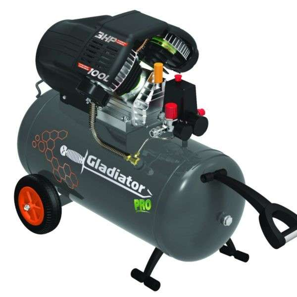 Compresor Gladiator 100 litros 3HP.