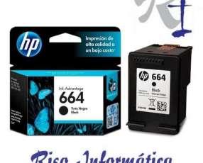 Cartucho de tinta HP 664 negro original