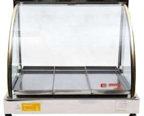 Exhibidora térmica Edanca plata EO 3 bandejas 80ºC
