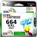 Cartucho de Tinta Printers 664 Color - 0