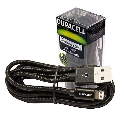 Cable Duracell Lightning 1.8M para Iphone - 0