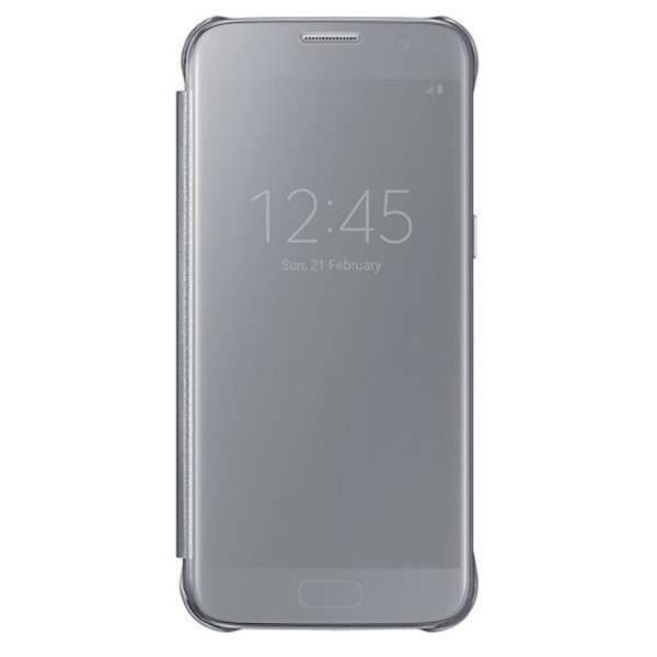 Protector Samsung Clear View Cover para Galaxy S7 Gray - 0