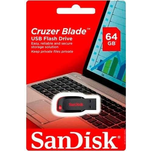 Pendrive Sandisk 64 gb usb - 0