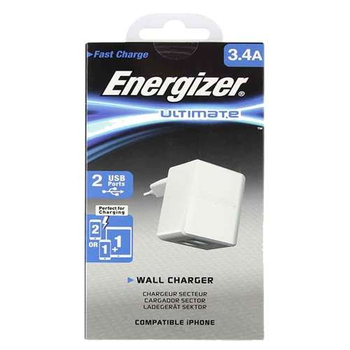 Cargador Energizer 3.4A 2 usb - 0