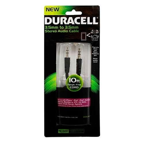 Cable Auxiliar Duracell - 3 Metros - 0