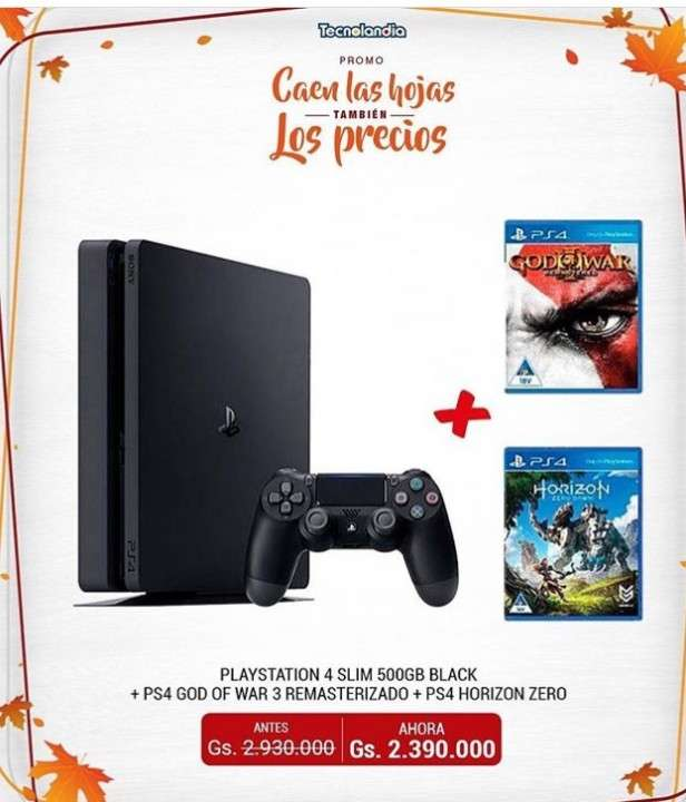 PlayStation 4 Slim de 500 gb - 0