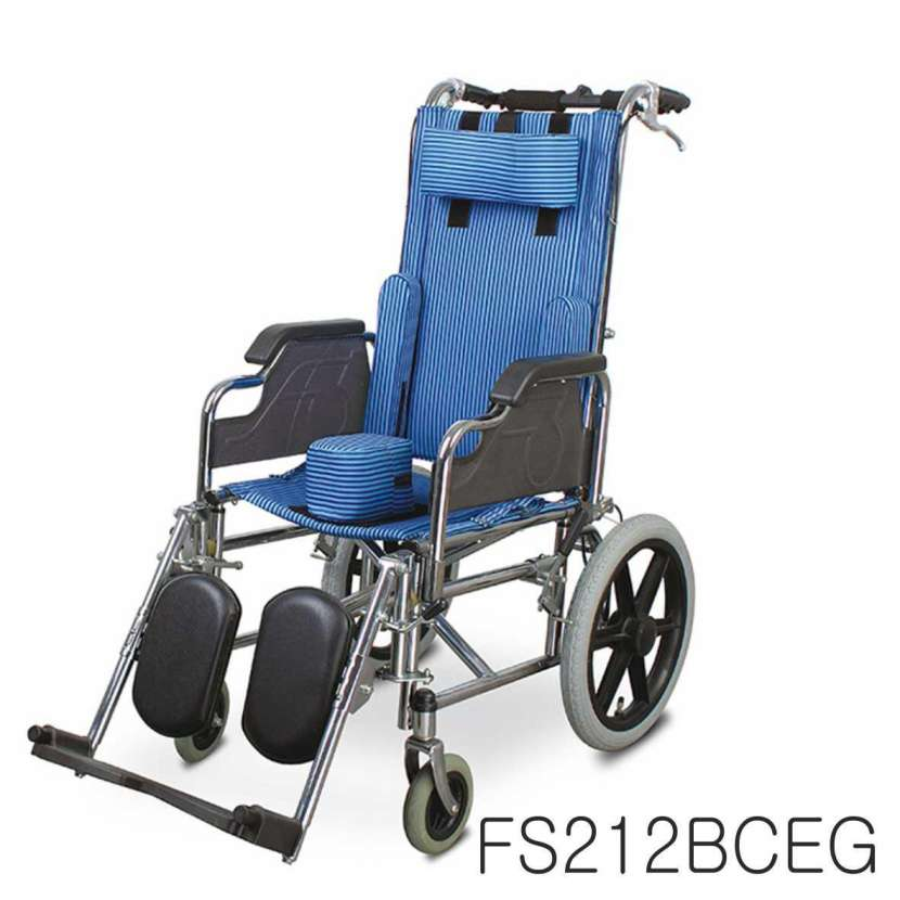 Silla de ruedas postural para niños blue rayas - 0