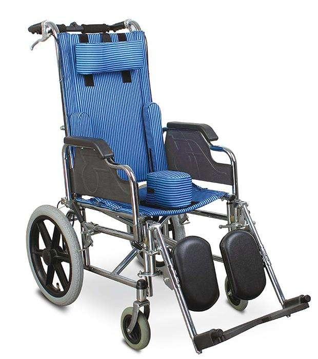 Silla de ruedas postural para niños blue rayas - 1
