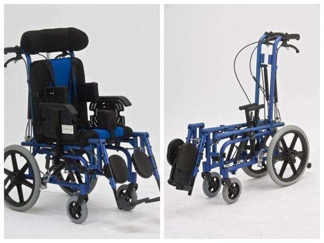 Silla de ruedas posturales blue rayas - 1