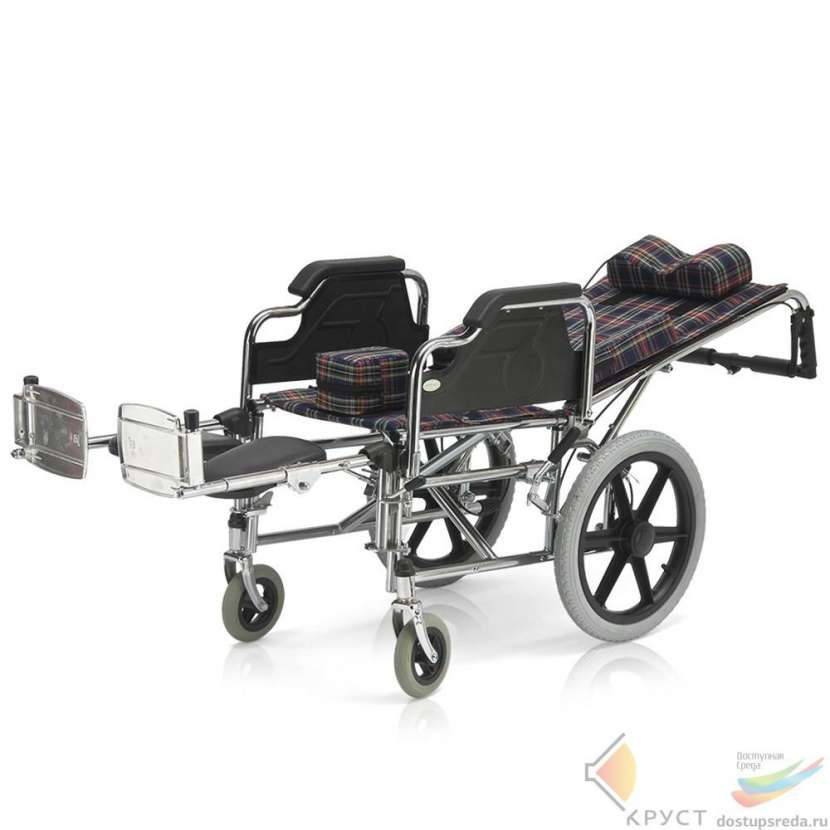 Silla de ruedas postural para niños blue rayas - 2