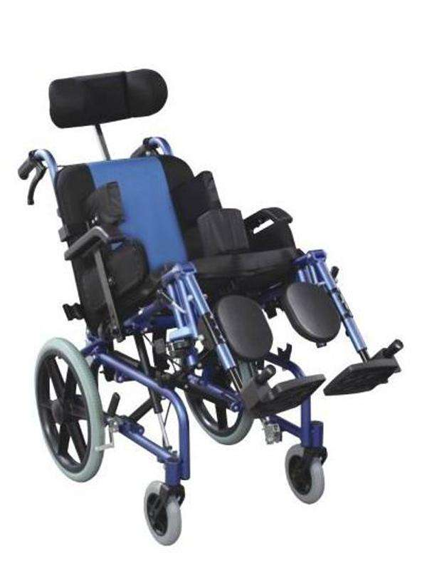 Silla de ruedas posturales blue rayas - 3