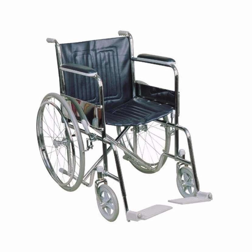 Silla de ruedas estándar cromada - 4