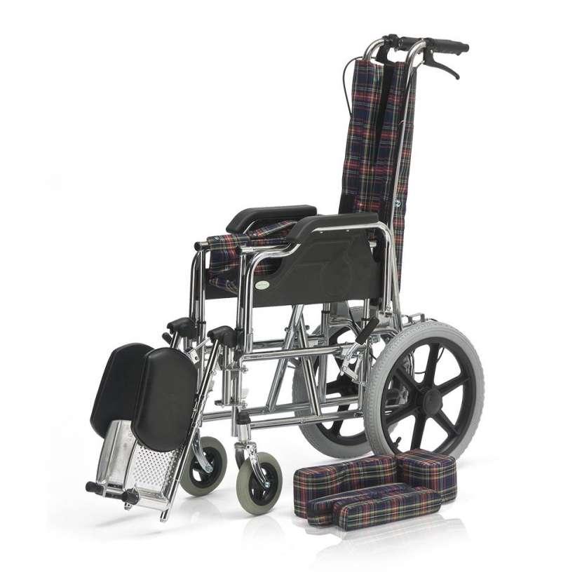 Silla de ruedas postural para niños blue rayas - 4