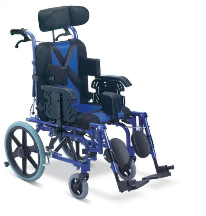 Silla de ruedas posturales blue rayas - 5