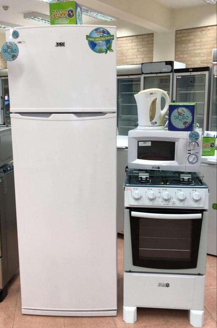 Heladera 400 lts Microondas Cocina y Hervidora