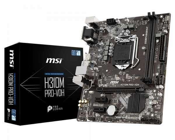 MB MSI LGA 1151 H310M PRO-VDH VGA/HDMI - 0