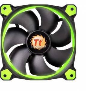 Cooler thermal riing 14 LED Green radiator fan 140MM