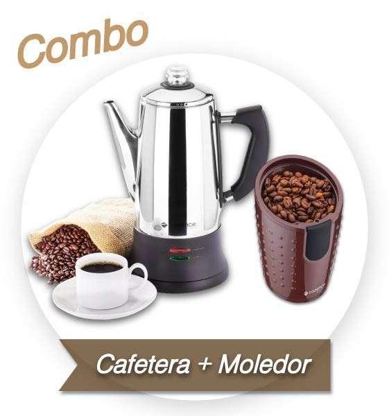 Combo Cafetera Italiana + Moledor de café Cadence