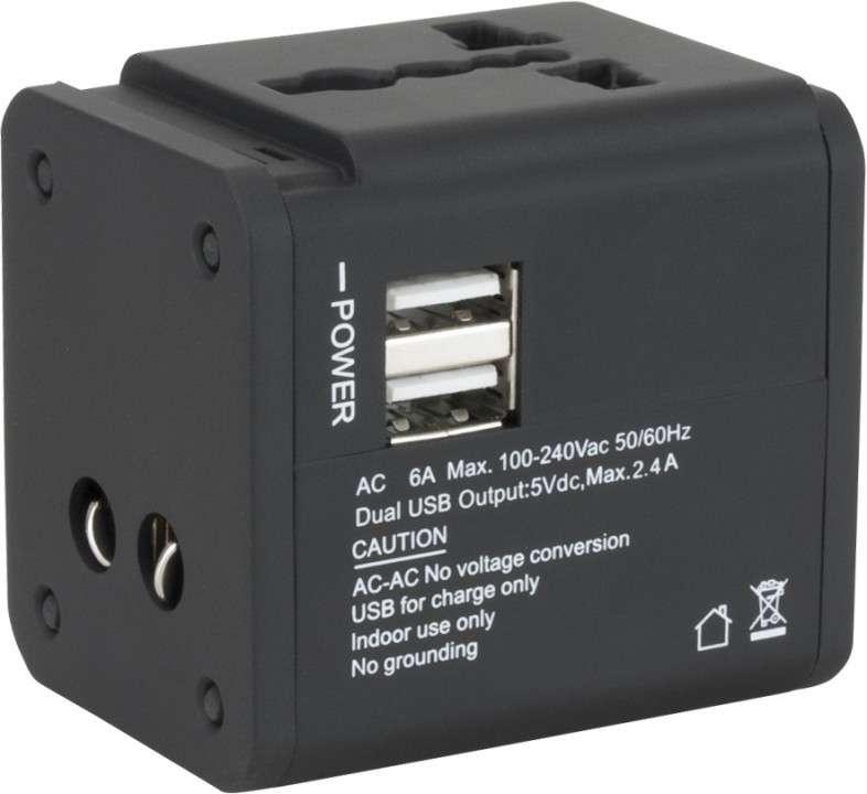 Cargador de pared klip KMA-150 universal p/energía c/2pb - 2