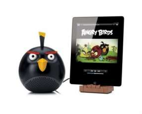 Mini mp3 player diseño angry bird negro