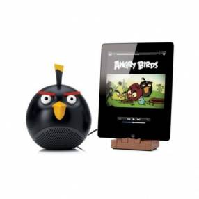 Mini mp3 player diseño angry bird negro