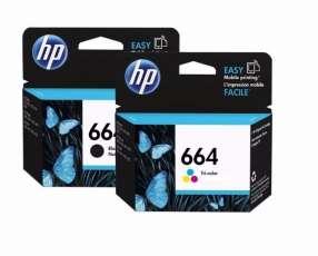 Tinta HP 664 negro y 664 color