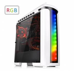 Gabinete thermal versa C22 RGB blanco/snow edition sin fuente