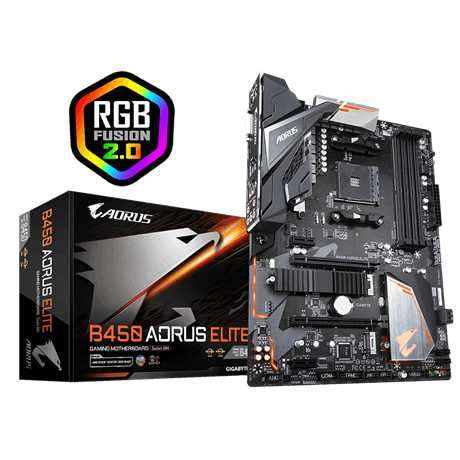 MB Gigabyte AM4 B450 AORUS ELITE S/R/HDMI/DVI/M2/DDR4 - 0